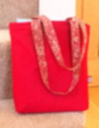 David & Claire Bennett Red Felt Bag.JPG