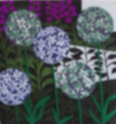 Rachel Crawford Alliums and Foxgloves.JP
