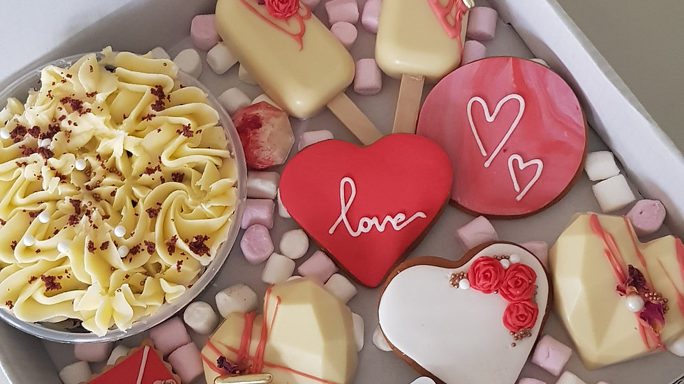 Valentine's Day 'cosy night in' sharing treat box