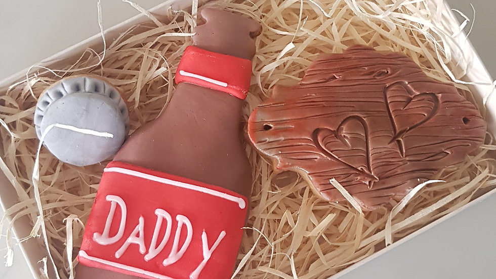 Father's Day beer bottle cookie set