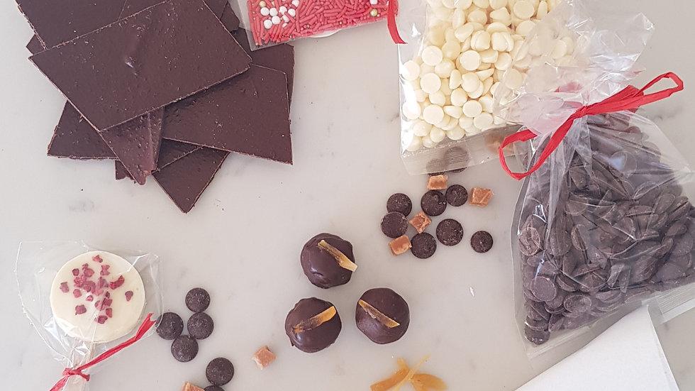 DIY chocolate making kit