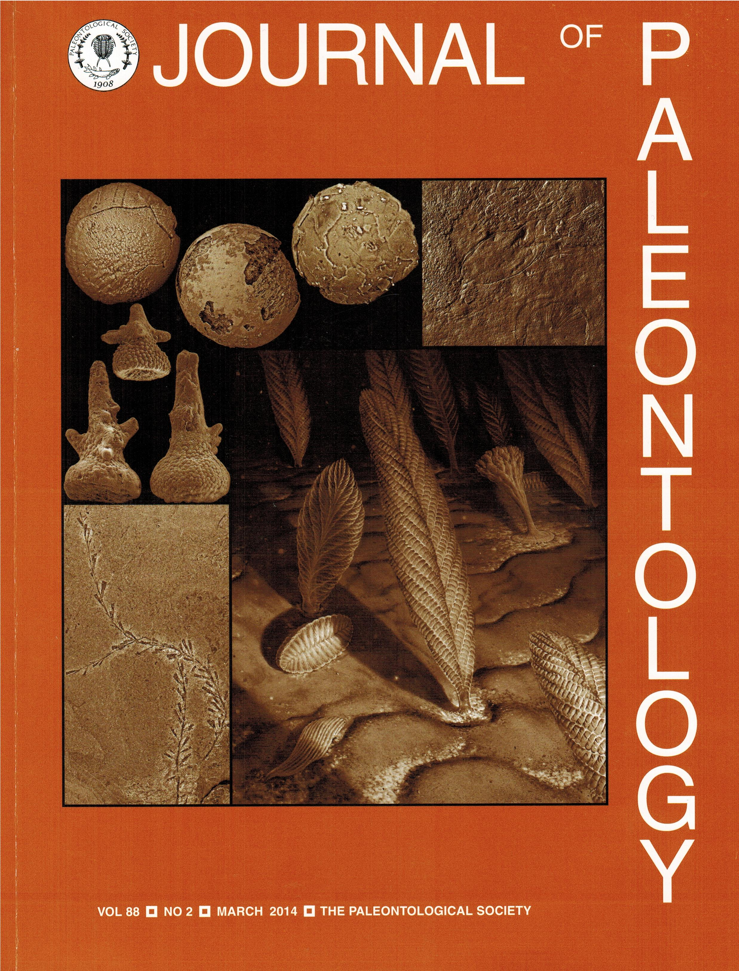 Broce2014JournalOfPaleontologyCover 001