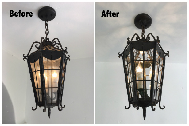 Pendulum Light Before and After