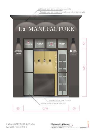 Elevation sur façade boutique Avignon / Projet en cours, sous DP