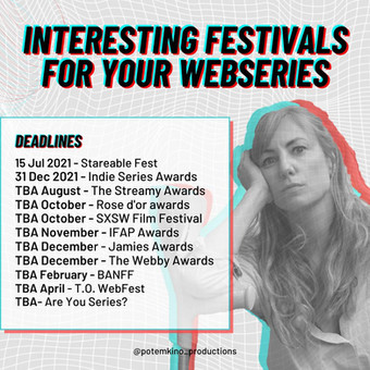 Interesting Festivals for your Webseries