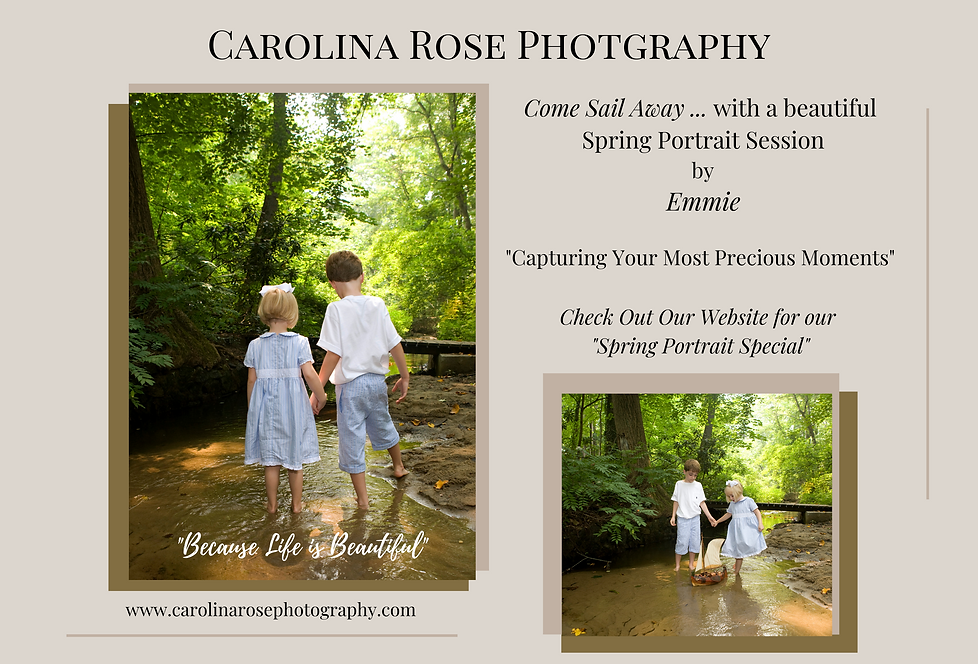 Carolina Rose Photography LLC Spring Por