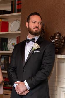 groom at the duke mansion 1 carolina rose photography llc 2021