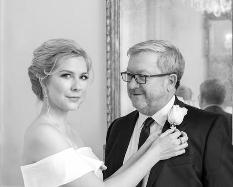 bride and father at  the duke mansion 1 carolina rose photography llc 2021