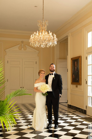 bride and groom at the duke mansion 1 carolina rose photography llc 2021