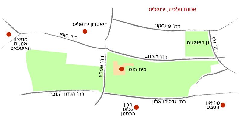 מפת הגעה לבית הנסן
