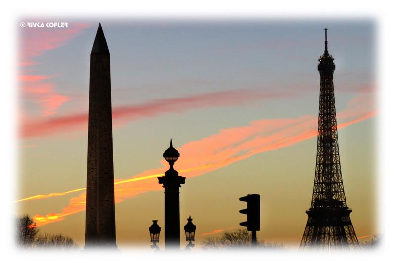 פריז בשקיעה