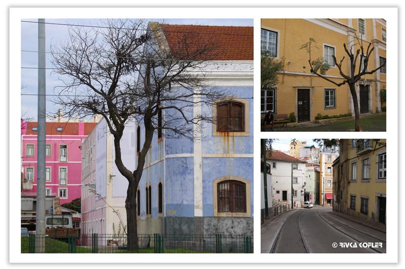 ליסבון - בתים צבעוניים