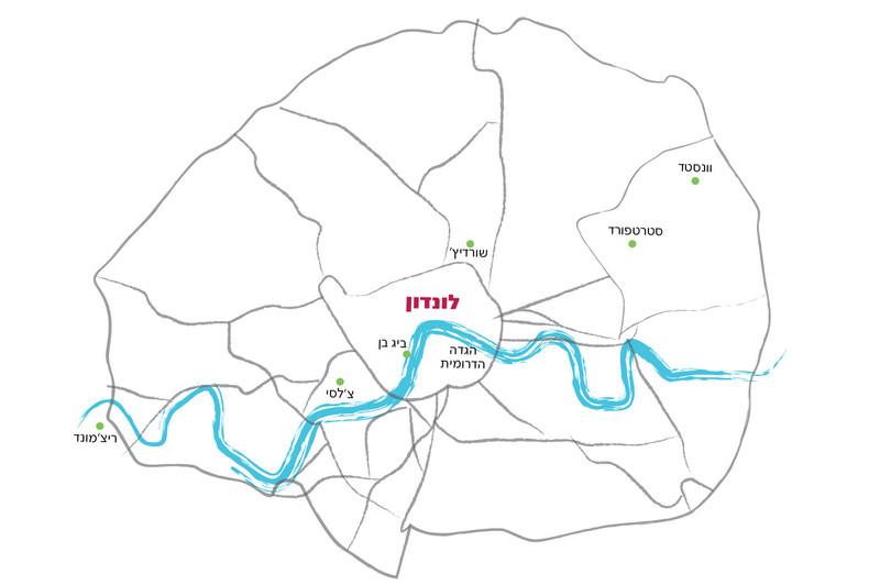 מפה - לונדון