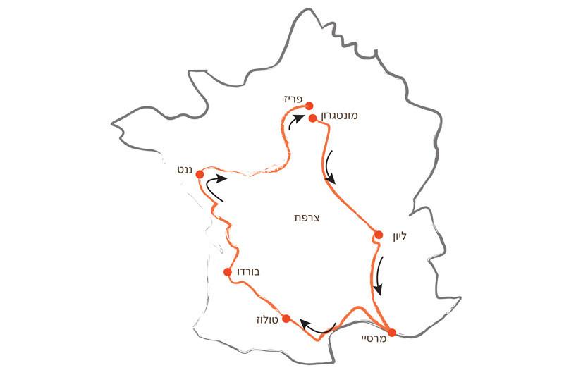 מפה - טור דה פראנס 1903