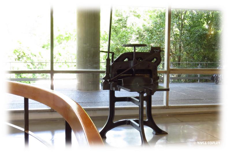 מכונת דפוס עתיקה