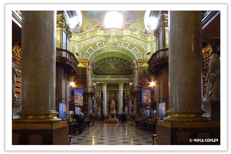 הספריה הלאומית וינה - אולם מרכזי