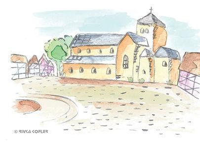 ציור הקתדרלה והרחבה