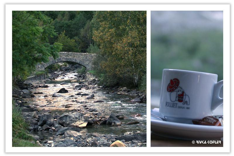ספל קפה, גשר, נחל
