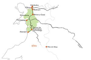 מפת הטיול בויילס