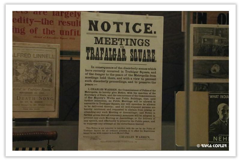 איסור על אסיפות בככר טרפאלגר