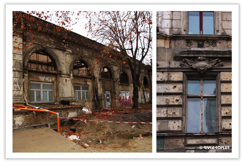 בניינים פגועים בברלין המזרחית