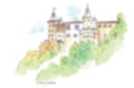 ציור הטירה על ההר