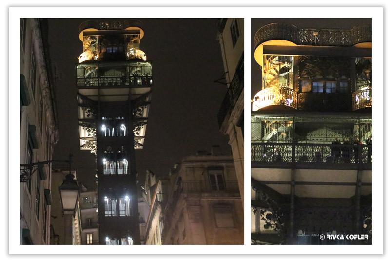 Santa Justa צילום לילה  - מעלית
