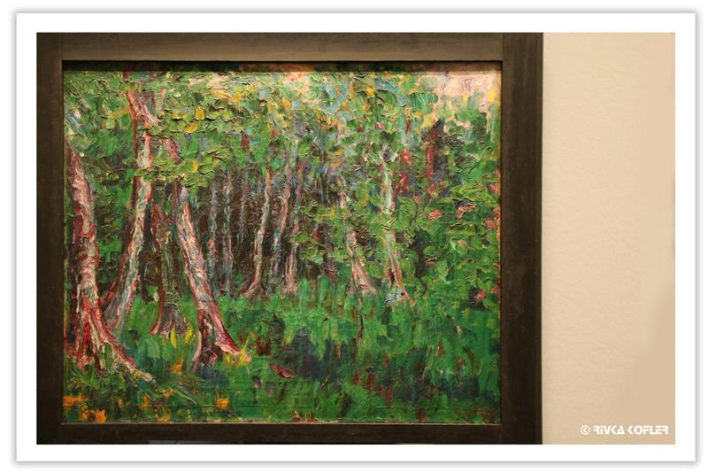 ציור של עצים