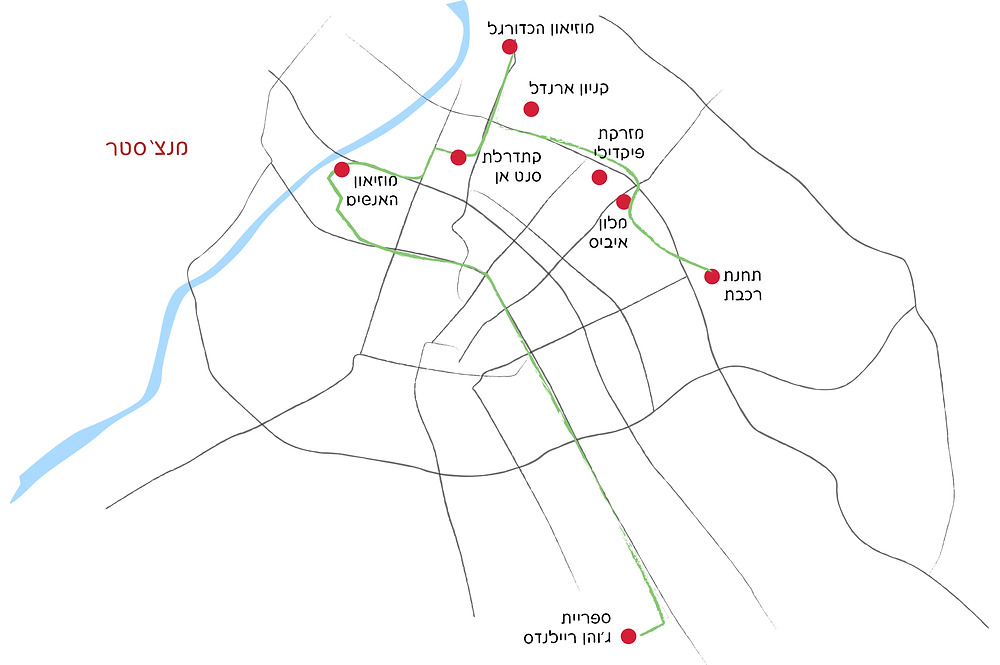מפה - מה שהספקנו בגיחה קצרה למנצ'סטר