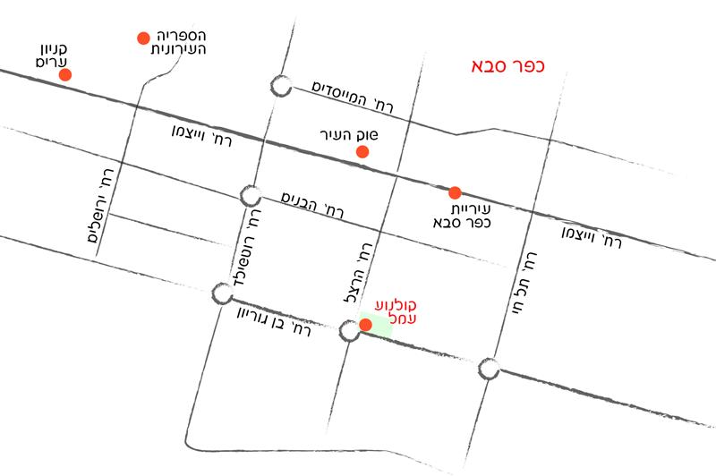 מפת כפר סבא