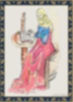 ציור של בחורה כותבת