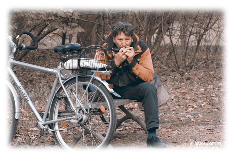 נגן מפוחית, אופניים