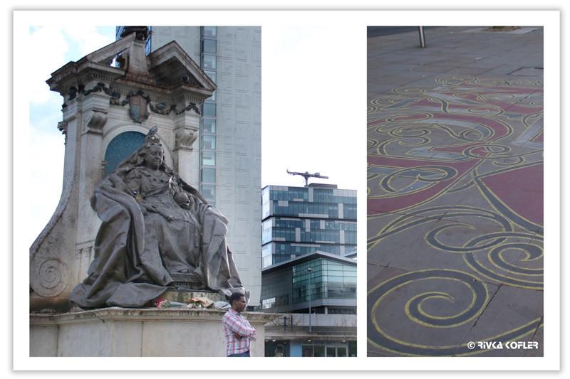 פסל המלכה ויקטוריה וציורי גיר
