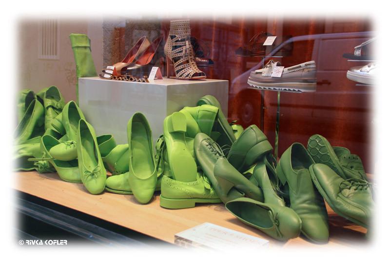 נעליים ירוקות בליון
