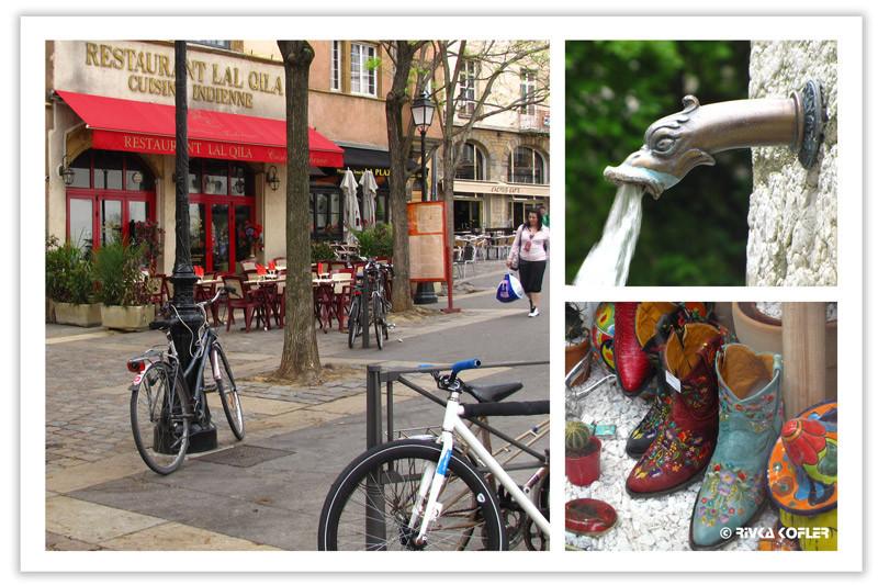 נעליים, ברז, אופניים - ליון