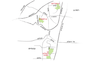 מפת שלושת הגנים