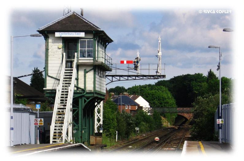 תחנת הרכבת בקנטרברי. אנגליה