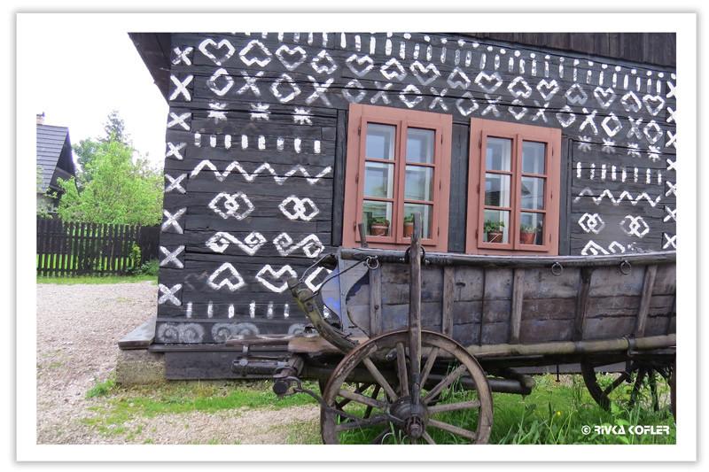 בית מצוייר ועגלה