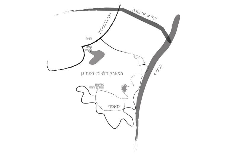 מפת הפארק הלאומי רמת גן