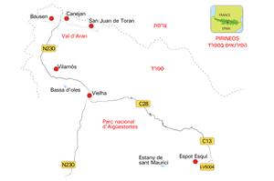מפת עמק אראן ושמורת אייגואסטורטס