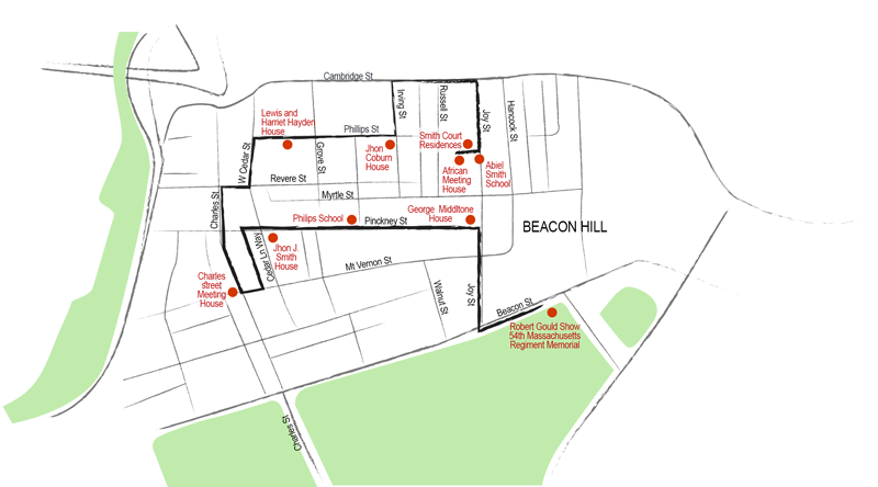מפת המסלול השחור בוסטון
