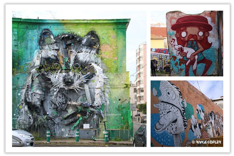 גרפיטי ברחובות ליסבון