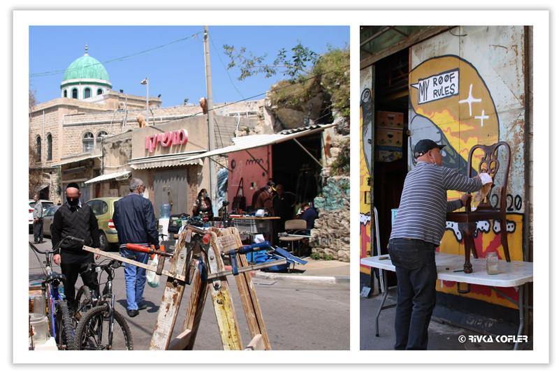 איש מתקן כיסא, שוק הפשפשים חיפה