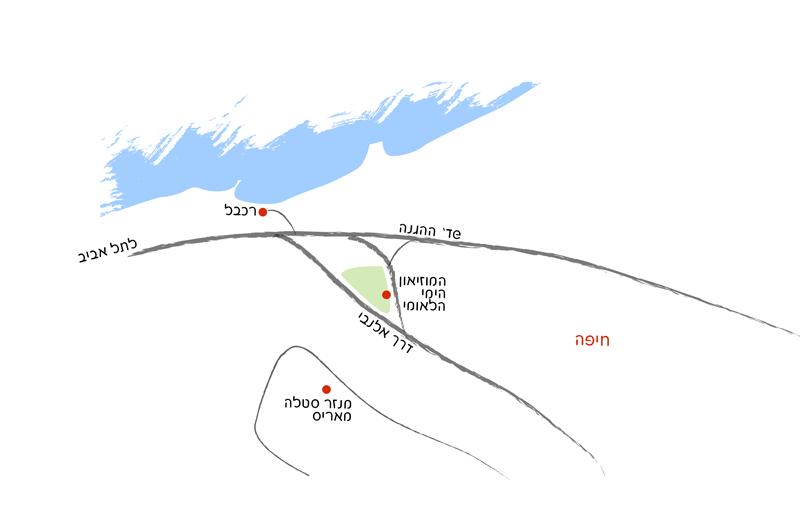 מפת הגעה למוזיאון הימי הלאומי בחיפה