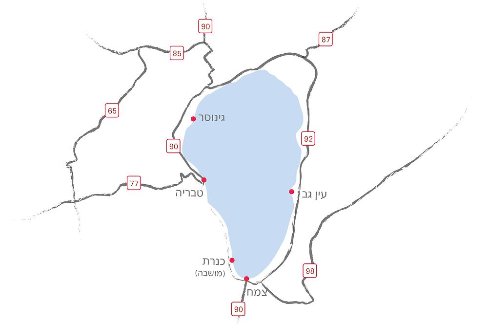 מפת הכנרת