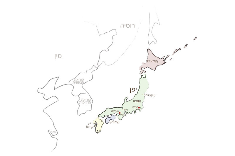 מפת יפן