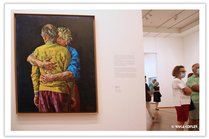 ציור - אשה מחבקת גבר