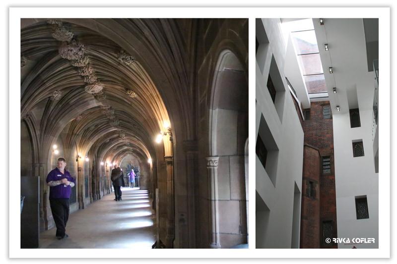 ספריית ג'והן ריילנדס - קירות פנימיים