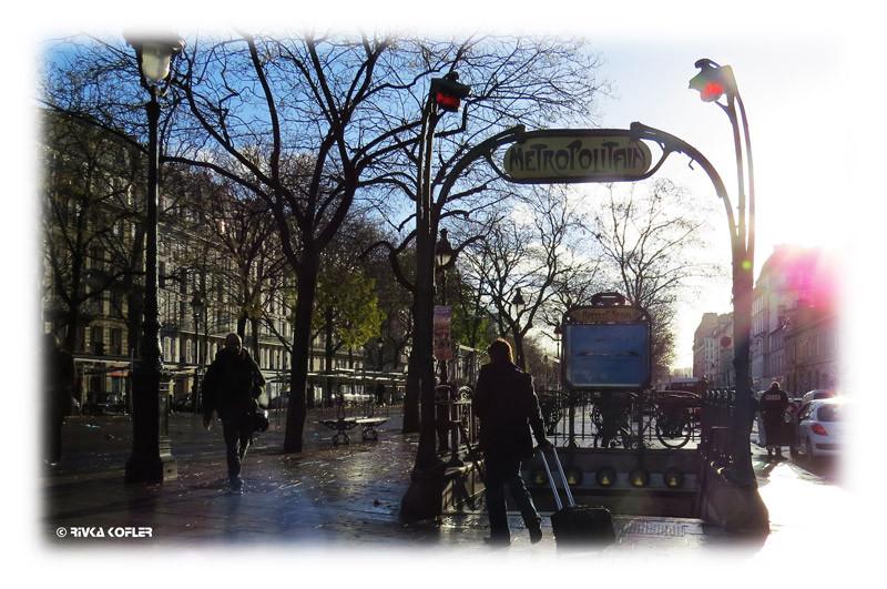 שלט תחנת מטרו, פריז