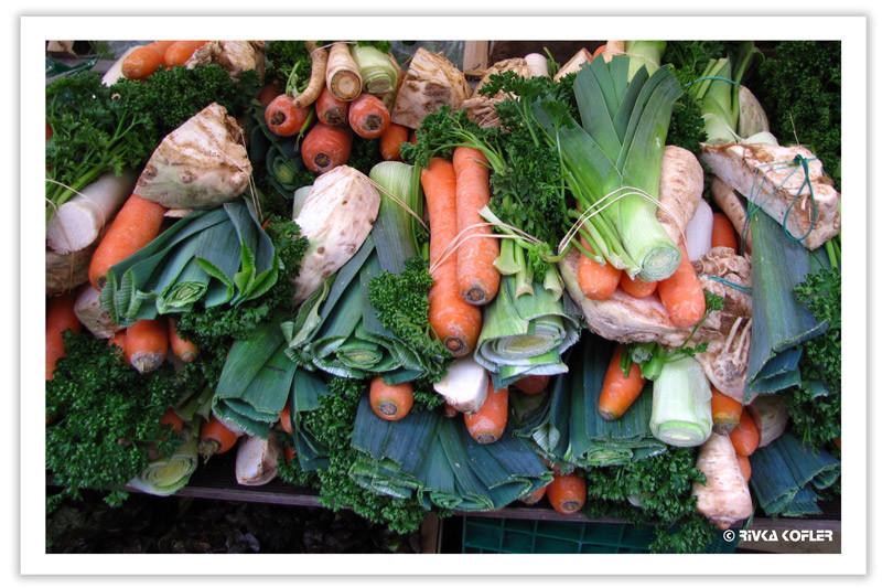 ירקות שורש מאוגדים